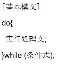 do-while文を知ろう