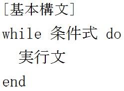 while文について知ろう